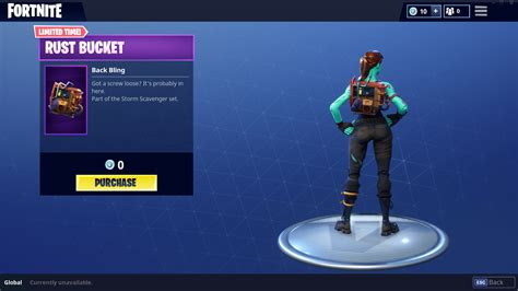 fortnite intel rust back bling now available for free in the