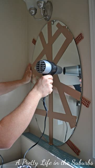 how to remove glass mirror from bathroom wall our powder room makeover a pretty life in the suburbs