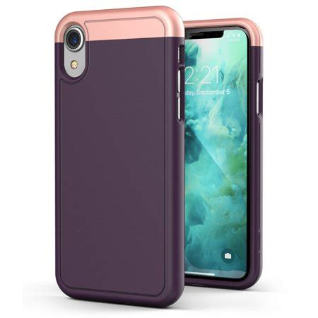 iphone xr slim ultra thin protective grip cover slimshield purple walmart