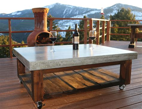 Concrete Patio Table Coffee Table