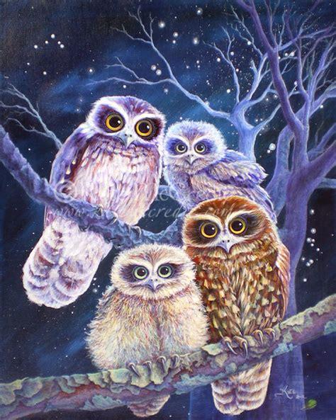boobook owl family by leelastarsky on deviantart