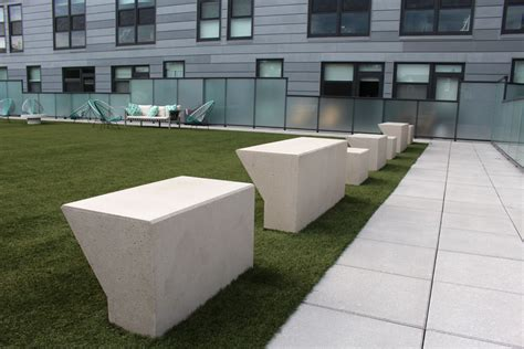 custom concrete benches custom concrete benches fit pit seating concrete bar grill at logan square l