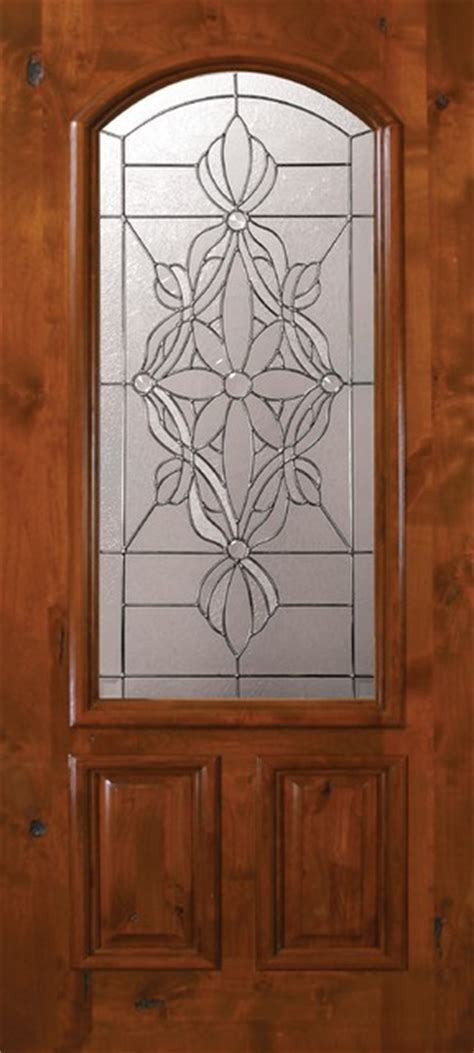 Exterior Slab Doors With Glass Slab Entry Single Door 80 Alder Evangeline 2 Panel Arch Lite Glass Mediterranean Front Doors