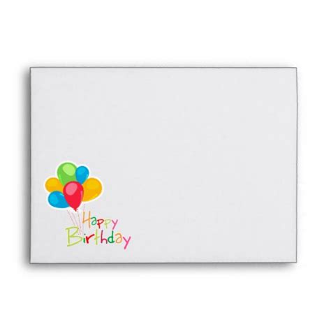 printable birthday cards and envelopes envelope template for 5x7 card 25 best ideas about