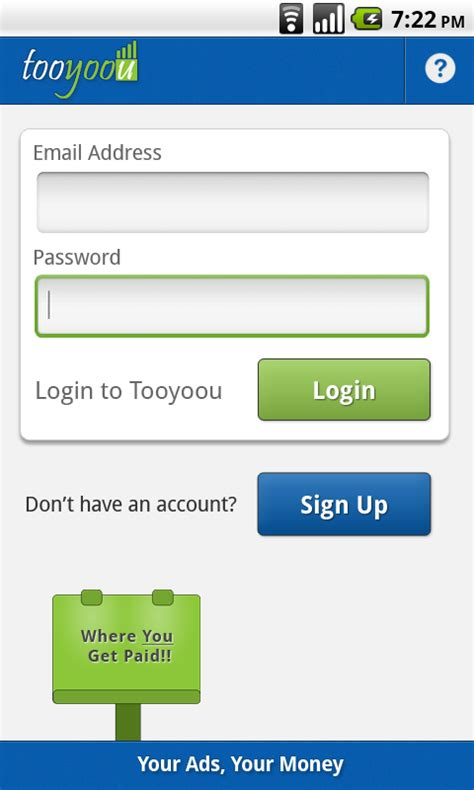 login app for android tooyoou official login to tooyoou android app like