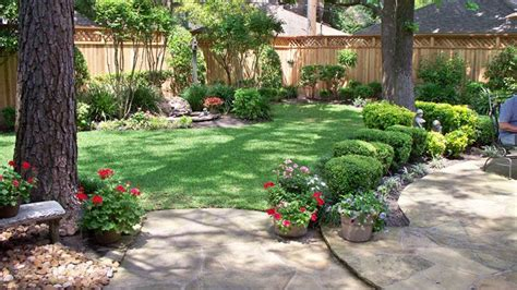 the backyard company landscaping along privacy fence wood fence residential