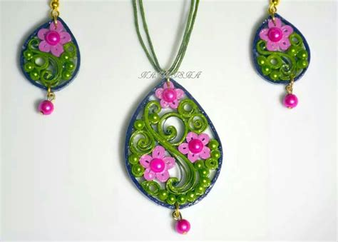 Jewellery With Quilling Paper - paper quilled jewellery quilling floral designs