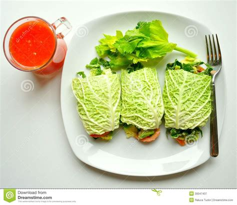 Meatless Detox Diet by Detox Diet With Vegan Rolls And Orange Juice