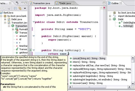 format html string java use the java editor features such as content assist and