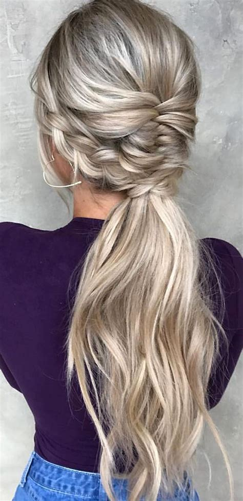 pony up creative ponytail hairstyles page 5 of 5 48 our favorite wedding hairstyles for long hair wedding
