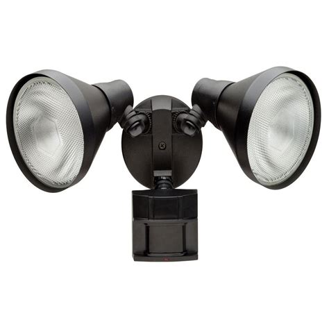 home depot security lights defiant 110 degree black motion activated outdoor flood