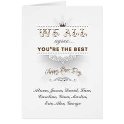 you re the best happy s day greeting card zazzle