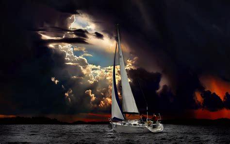 sailing boat in a storm sailboat in storm 2011 www gdefon metamorphic