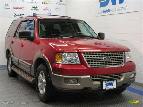 ford expedition red 2003 laser red tinted metallic ford expedition eddie bauer