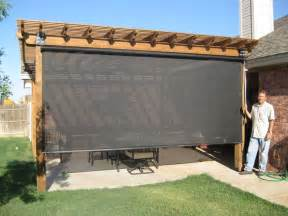 privacy screen patio outdoor spaces beat the heat s patio shades patio enclosures