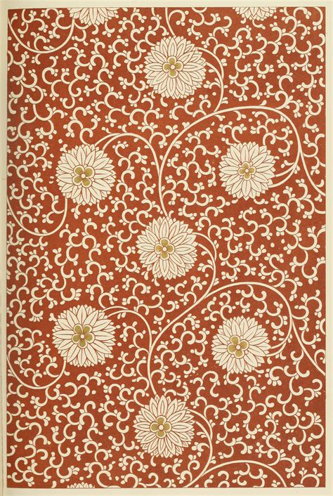 chinese pattern  white flowers  book illustrations