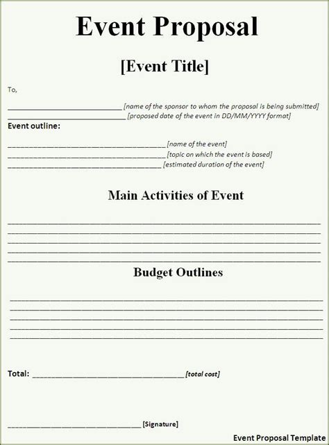Event Proposal Template Free Word Templates Rfp Templates Free