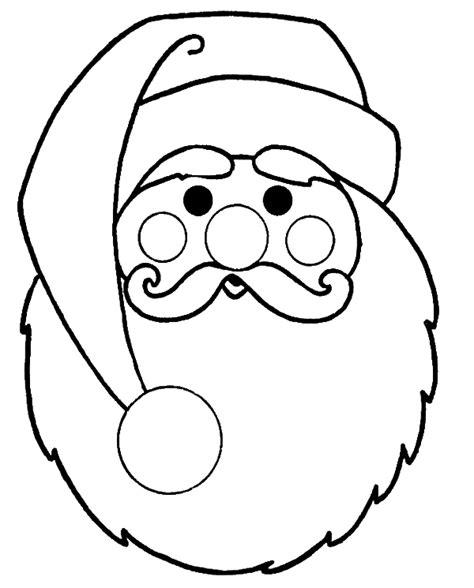 santa mask coloring page christmas coloring pages