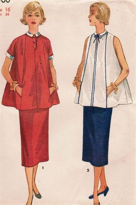 pattern maternity clothes vintage 1956 simplicity 4560 sewing pattern misses two