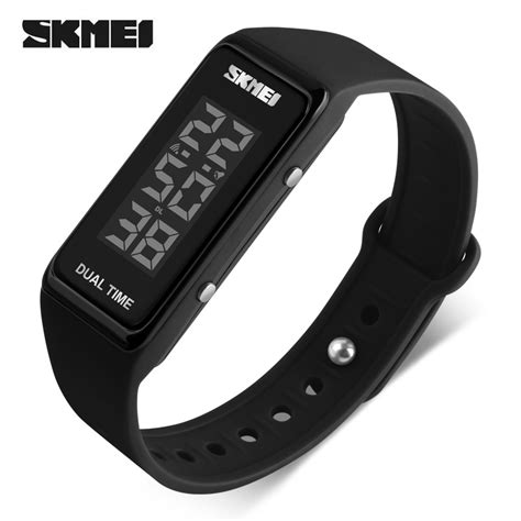 skmei jam tangan digital led 1277 black