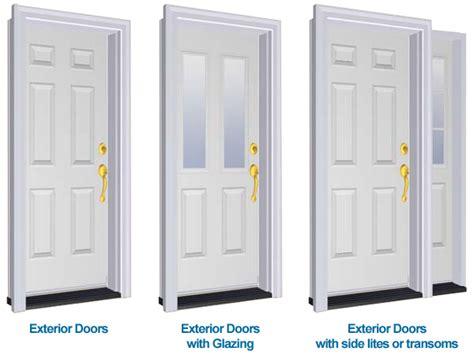 Types Of Front Doors Exterior Door Types Sill To Sash