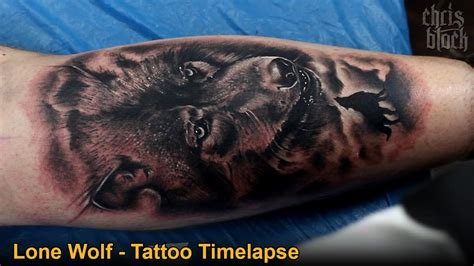 3d wolf tattoo chris block lone wolf timelapse hd