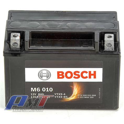 Motorrad Batterie Bosch by Bosch Ytx9 Bs Motorrad Batterie M6 8ah 12v 0092m60100