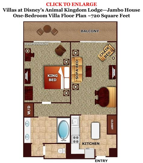disney animal kingdom villas floor plan disney s jambo house one bedroom villa floor plan from