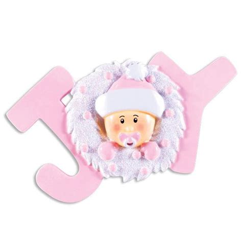 or1337 p joy baby pink personalized christmas ornament