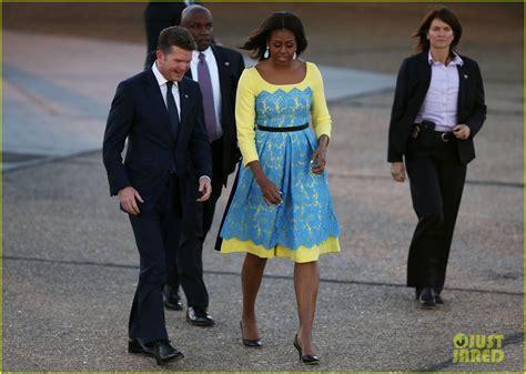 michelle obama in london michelle malia sasha obama dress to impress for london