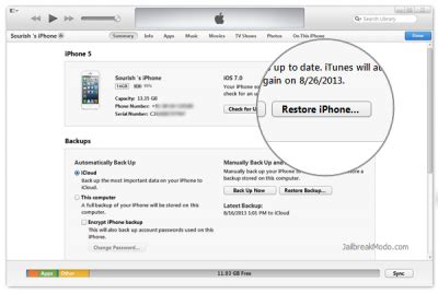 how to restore jailbroken iphone or ipod touch to factory settings guide