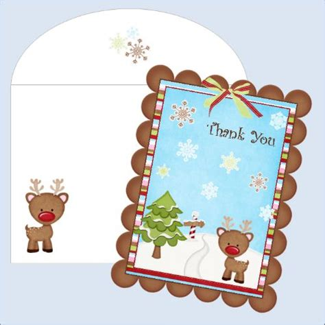 printable christmas thank you paper 9 best images of printable christmas thank you stationery