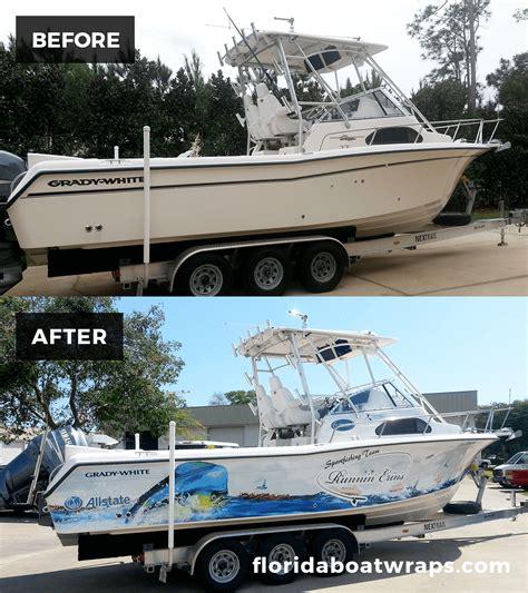 fishing boat wrap kits wrapped up boat vehicle wraps daytona beach florida