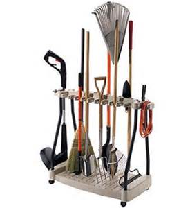 Garage Organization Yard Tools Yard Tool Organizer Rack In Garden Tool Storage