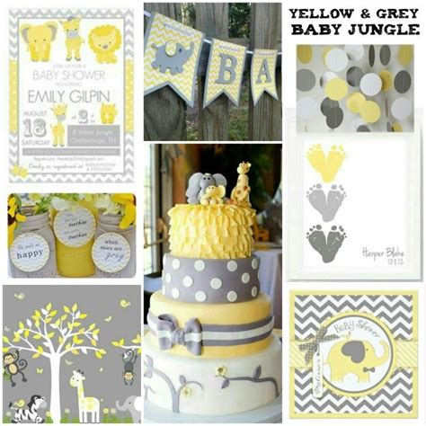 Yellow Themed Baby Shower by Yellow And Grey Baby Shower With Chevron Accents Baby