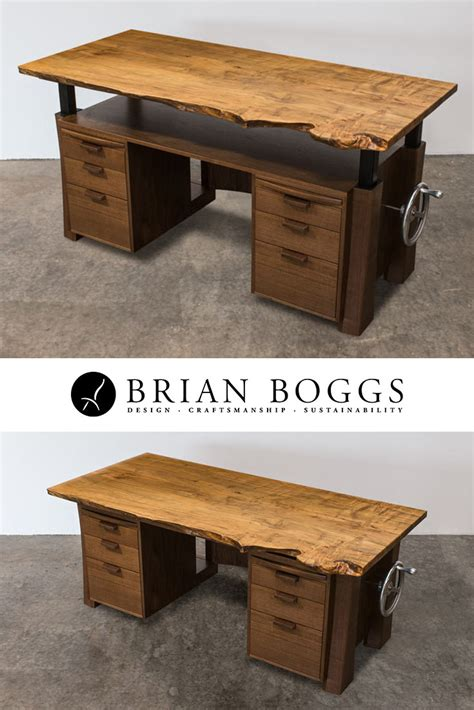 Solid Wood Executive Desks by Solid Wood Executive Desk With Adjustable Crank