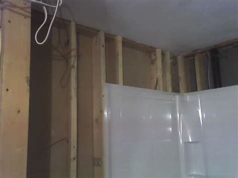 drywall newly framed bathroom wall not square how bad