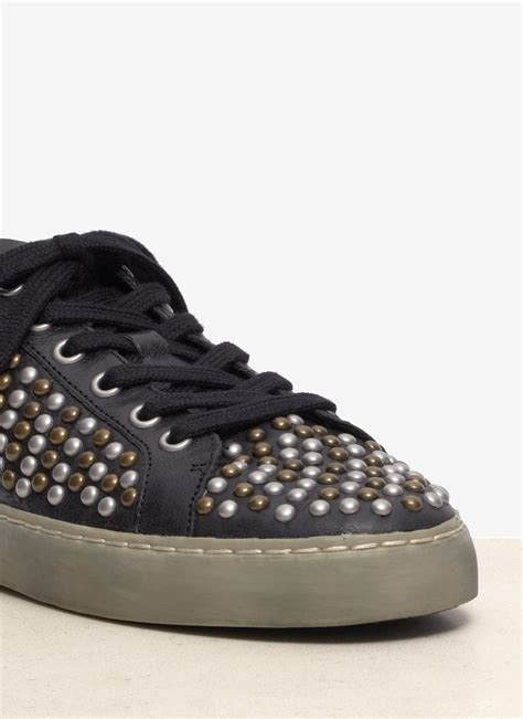 studded sneakers ash soda studded leather sneakers in black lyst
