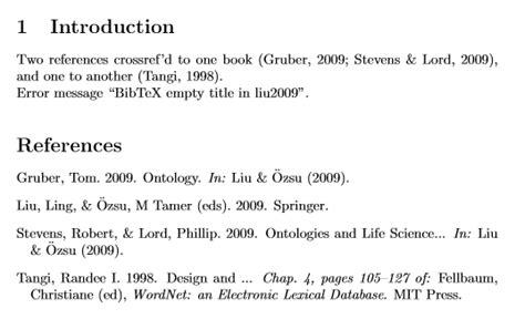 reference book bibtex bibtex cross referenced book reference has no title