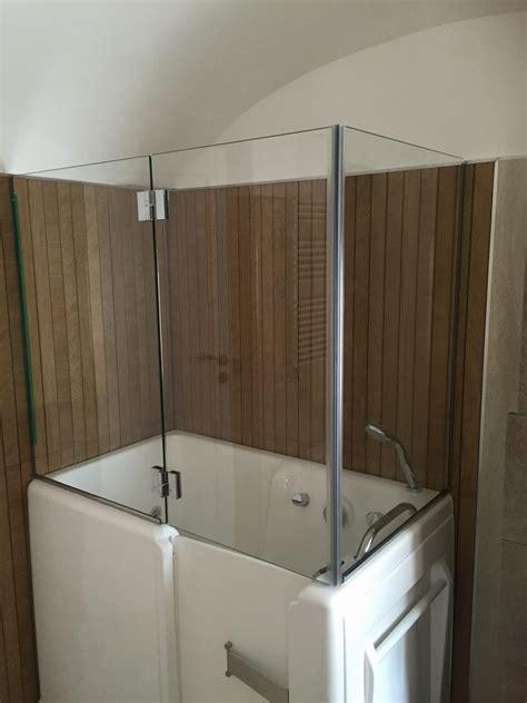 vetri per vasca box doccia in cristallo chiaro satinato vetreria