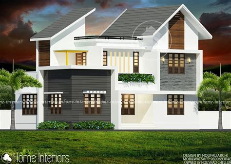 contemporary modern house plan with 1700 square feet and 3 1700 square feet double floor contemporary home designs