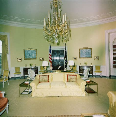 yellow oval room kn c29721 yellow oval room white house f kennedy presidential library museum