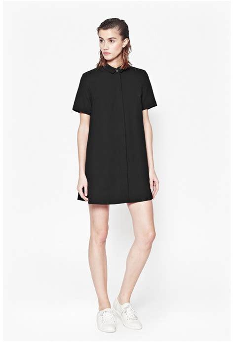 Blue Mix Lace Shirt Dress womens clothes sale connection