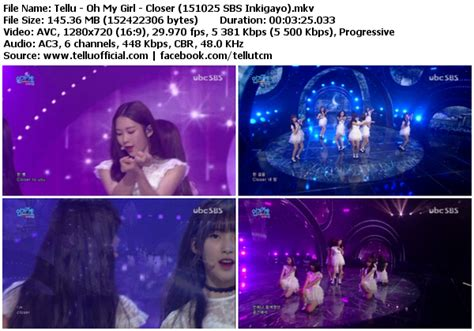 download mp3 closer by oh my girl download perf oh my girl closer sbs inkigayo 151025