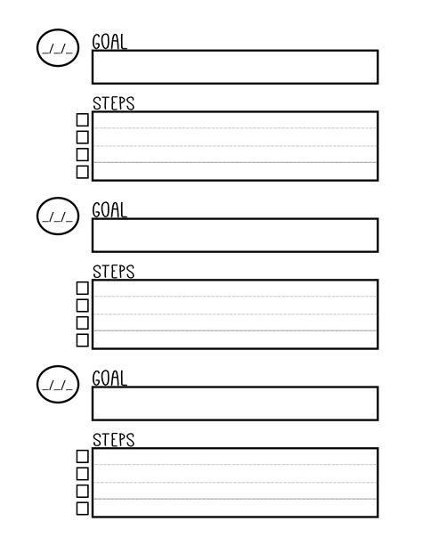 goal setting worksheet 8 free brilliant designs free printable goal setting planner worksheet planners