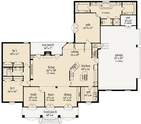 2500 sq ft ranch floor plans plan 84059jh bedroom layouts exterior and bedrooms