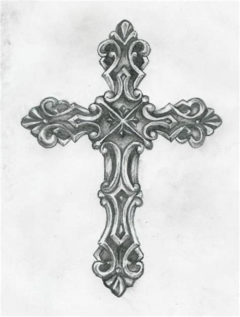 black and grey cross tattoo black and grey cross design by birdofflame