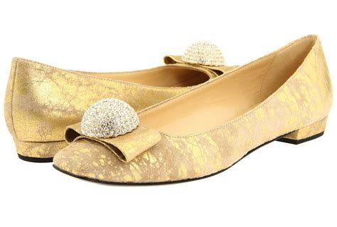 Gold Flat Shoes For Wedding by Gold Wedding Shoes Ballet Flats With Rhinestone Detail