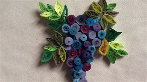 How To Make Paper Grapes - paper quilled grape vine