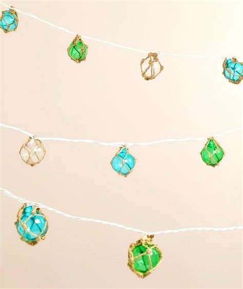 Beach Up Your Summer With String Lights Beach Bliss Living Glass Float String Lights